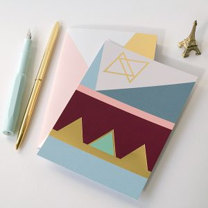 A6 card gold foil - blk-10G1