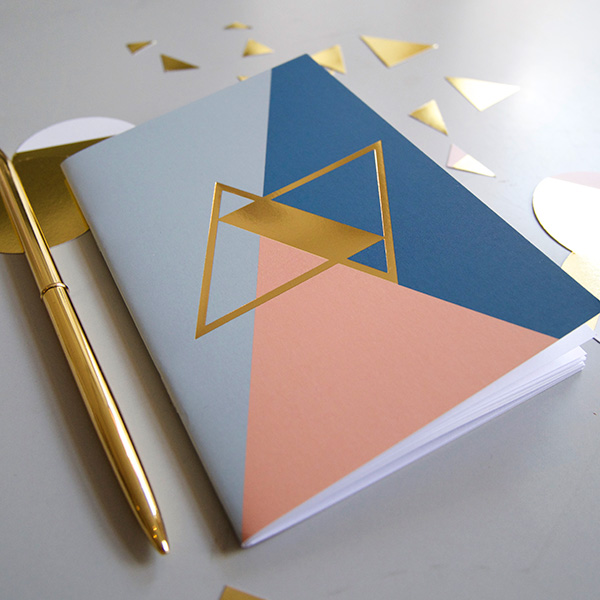 notebook A6 GOLD blue