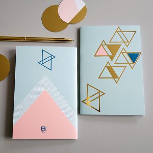 notebook A6 GOLD mint