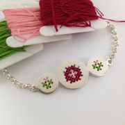 Embroidery bracelet happy hours