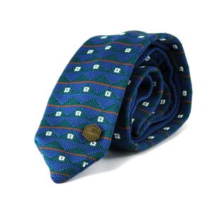 De Groot knitted tie - Blue Petrol