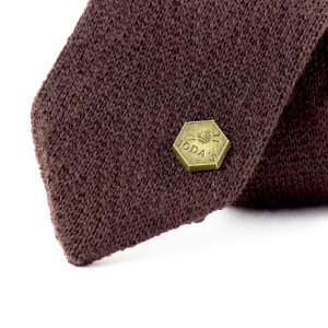 Feringa knitted tie - Dark brown