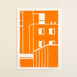 The longest line, Limited linocut print