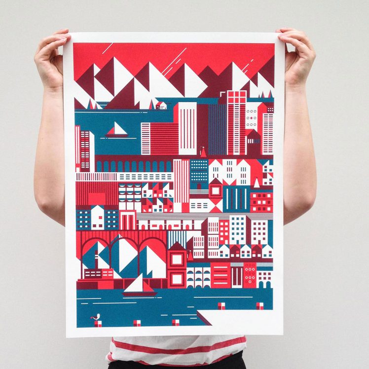 Building cities, Limited Screenprint