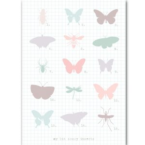 A6 card insects - blk-A2