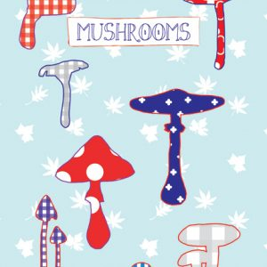A6 card mushrooms - blk-ps2