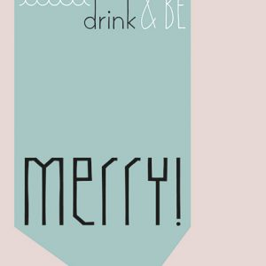 A6 card eat, drink & be merry - blk-txt12