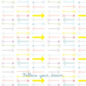 A6 card follow your dream - blk-txt3