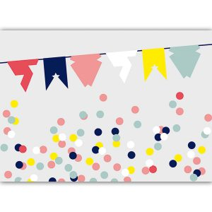 A6 birthday card flags - blk-v16