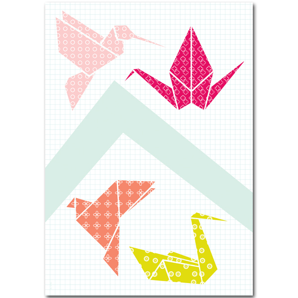 Poster Origami birds