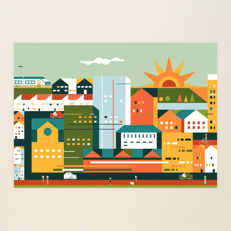 A new larger outer city 5, Limited print