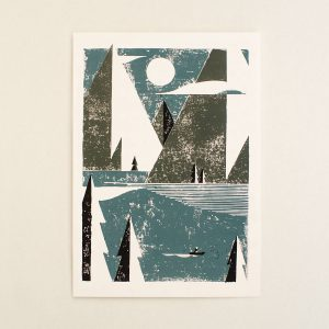 Happy Loneliness, Limited linocut print