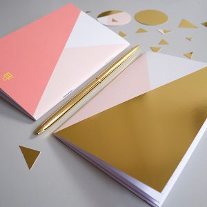 notebook A6 GOLD pink