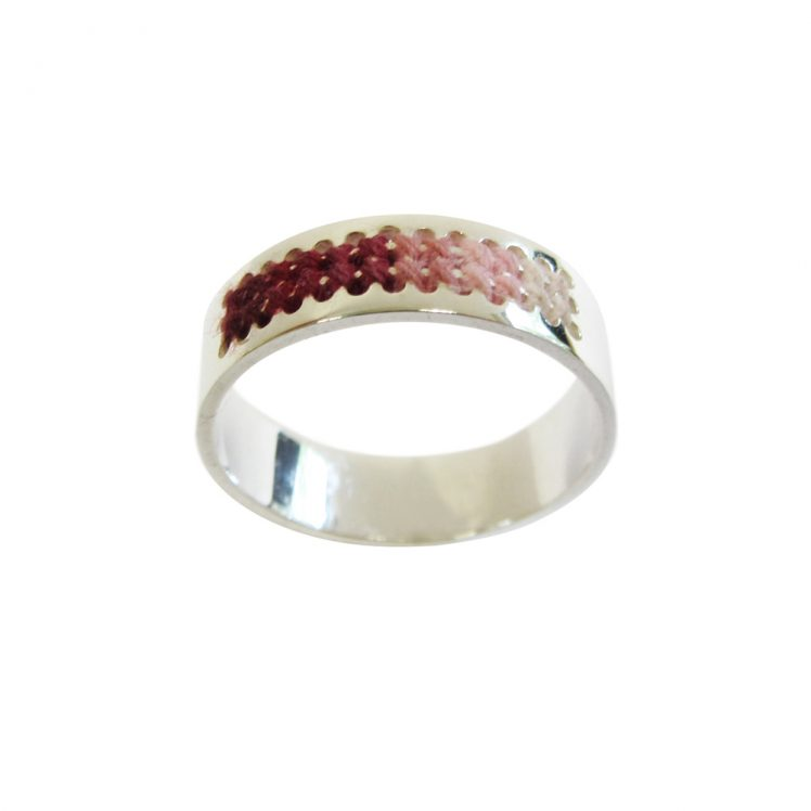 Embroidery ring pink shade