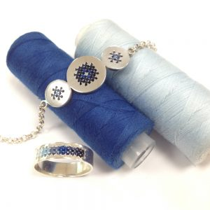Embroidery ring blue shade