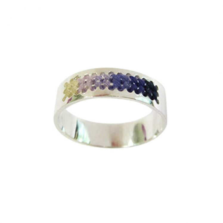 Embroidery ring purple shade