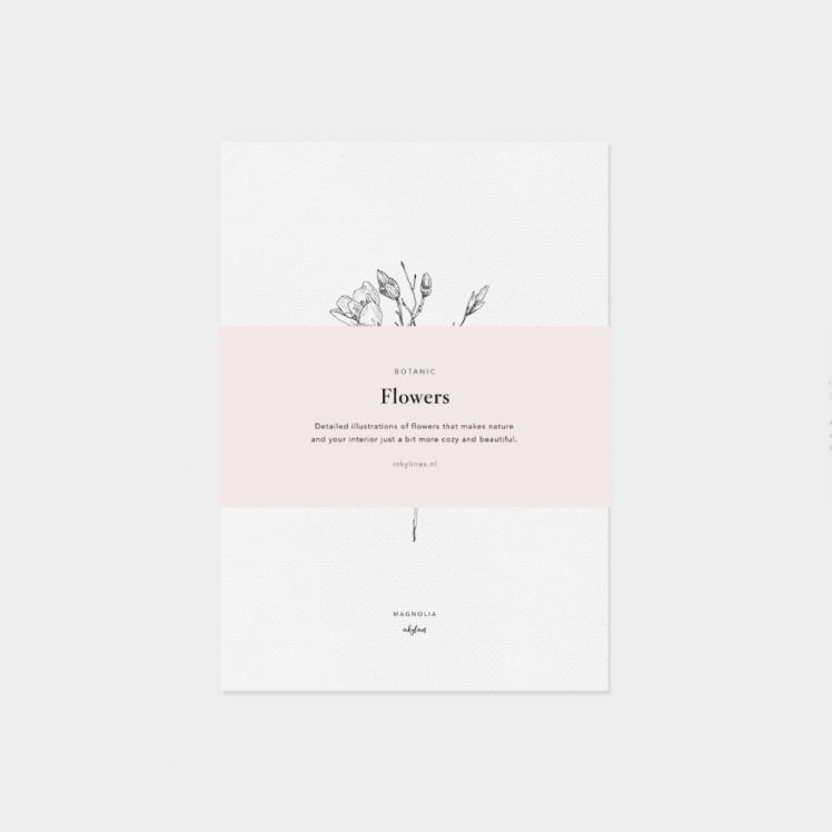Flowers card set of 6