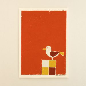 Seagull, Limited Linocut print