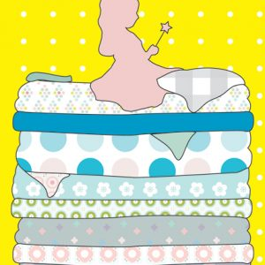 A6 card Princess and the Pea - blk-P
